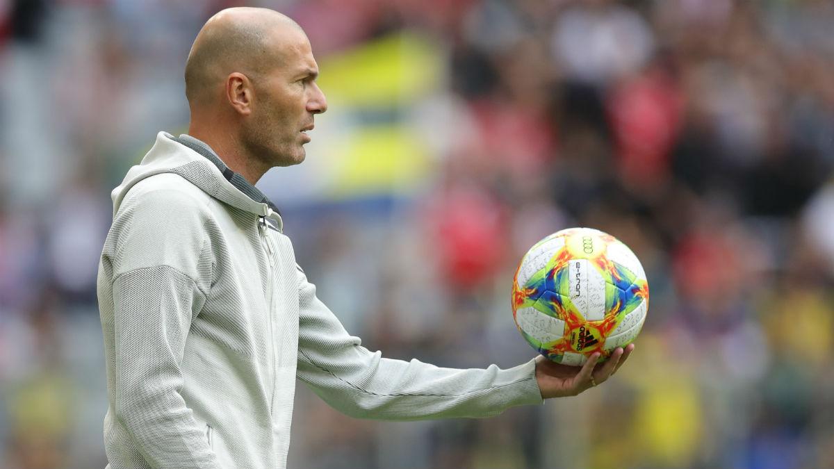 Zidane, durante el encuentro ante el Fenerbahce (Getty).