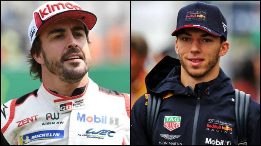 Fernando Alonso podría ocupar el asiento de Gasly esta temporada.