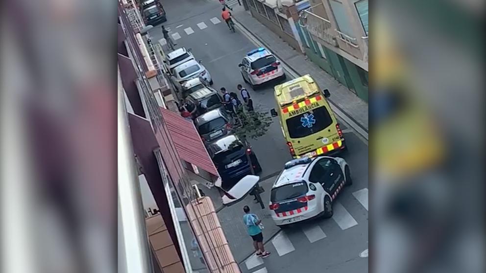 La pelea entre 'menas' y jóvenes de Calella se saldó con dos heridos.