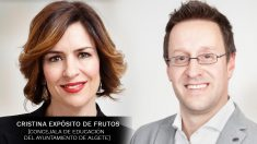 La edil Cristina Expósito de Frutos junto al alcalde socialista de Algete, Juan Jesús Valle