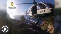 Helicóptero de la Guardia Civil en Mallorca.