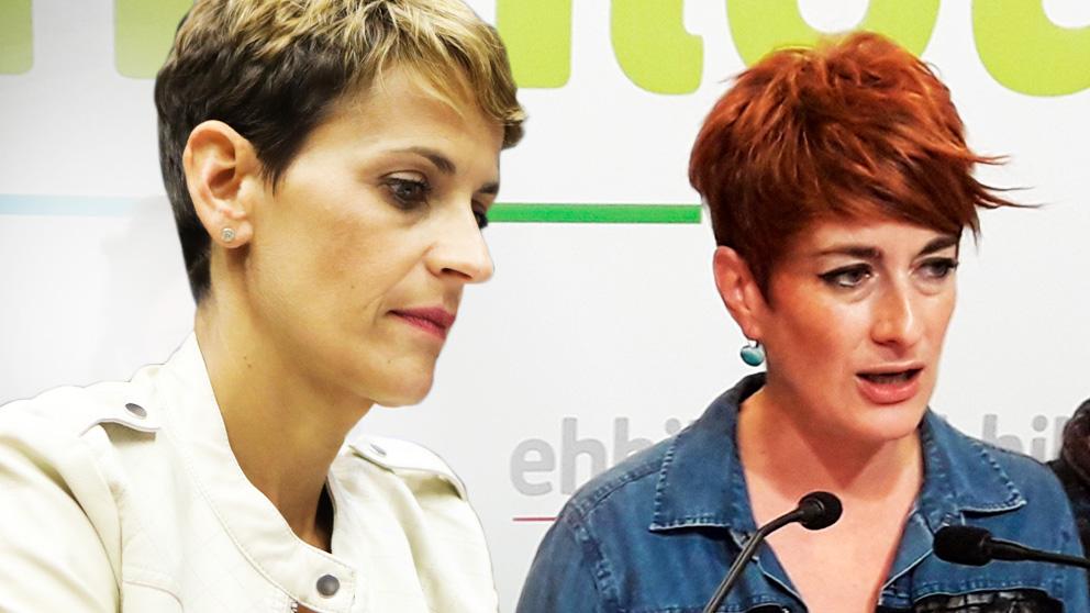 Maria Chivite (PSN) y Bakartxo Ruiz (Bildu).