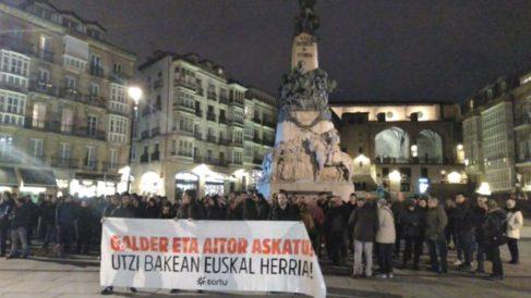 Manifestación proetarra pidiendo la libertad de Galder Barbado.