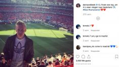 Van de Beek disfrutó de la Décima Champions del Real Madrid en Lisboa. (@donnyvdbeek)