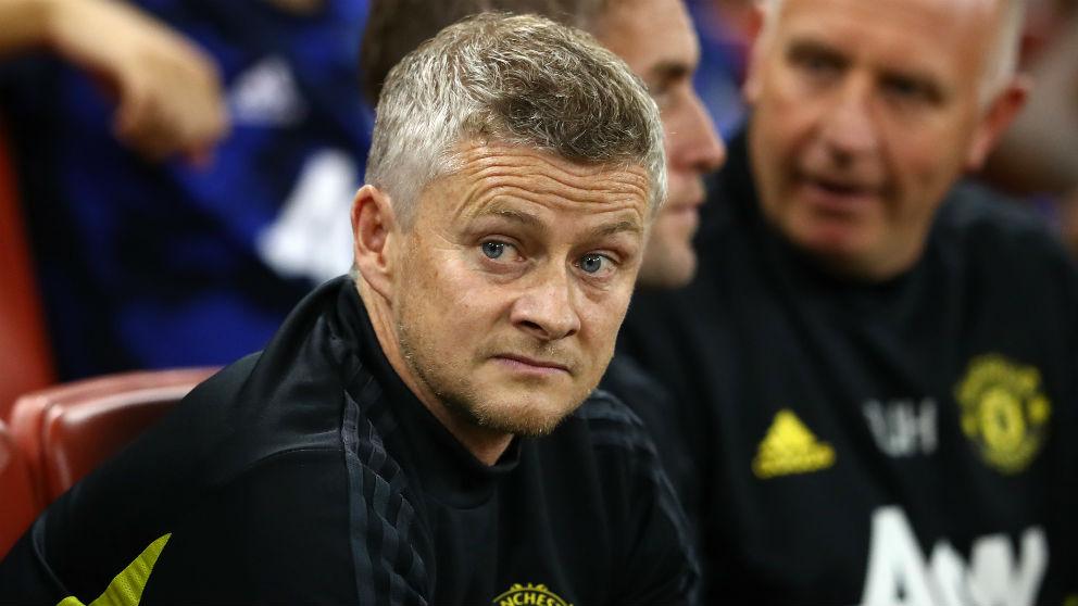 El entrenador del Manchester United, en el partido contra el Milan. (Getty)