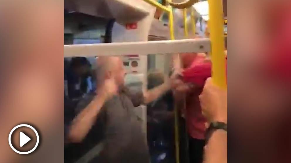 Bochorno en el metro de Londres.