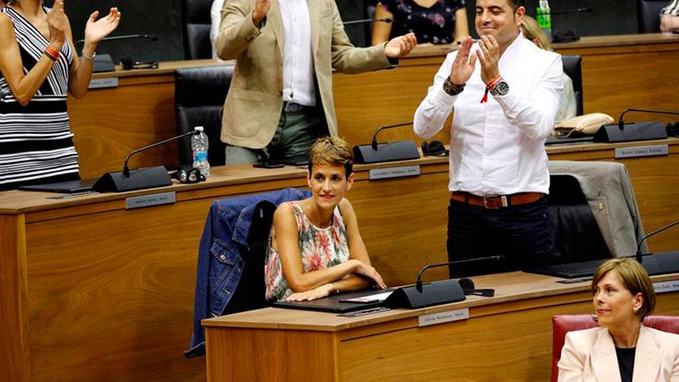 La secretaria general del PSN-PSOE, María Chivite, ha sido elegida este viernes por el Parlamento de Navarra presidenta del Gobierno Foral con los votos de su partid
