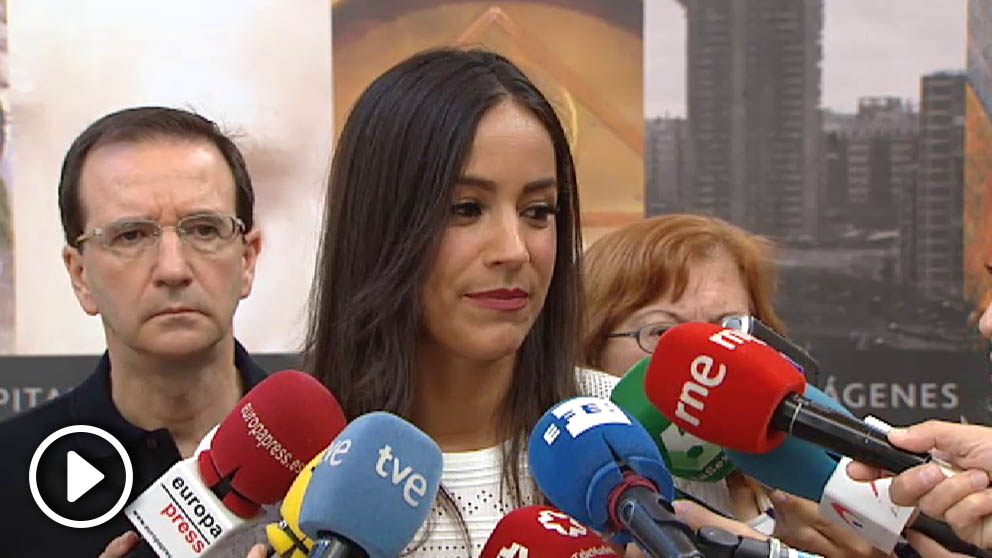 La vicelacaldesa de Madrid, Begoña Villacís, en rueda de prensa