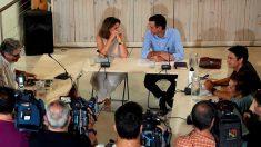 Pedro Sánchez, este lunes, en su reunión con organizaciones ecologistas.