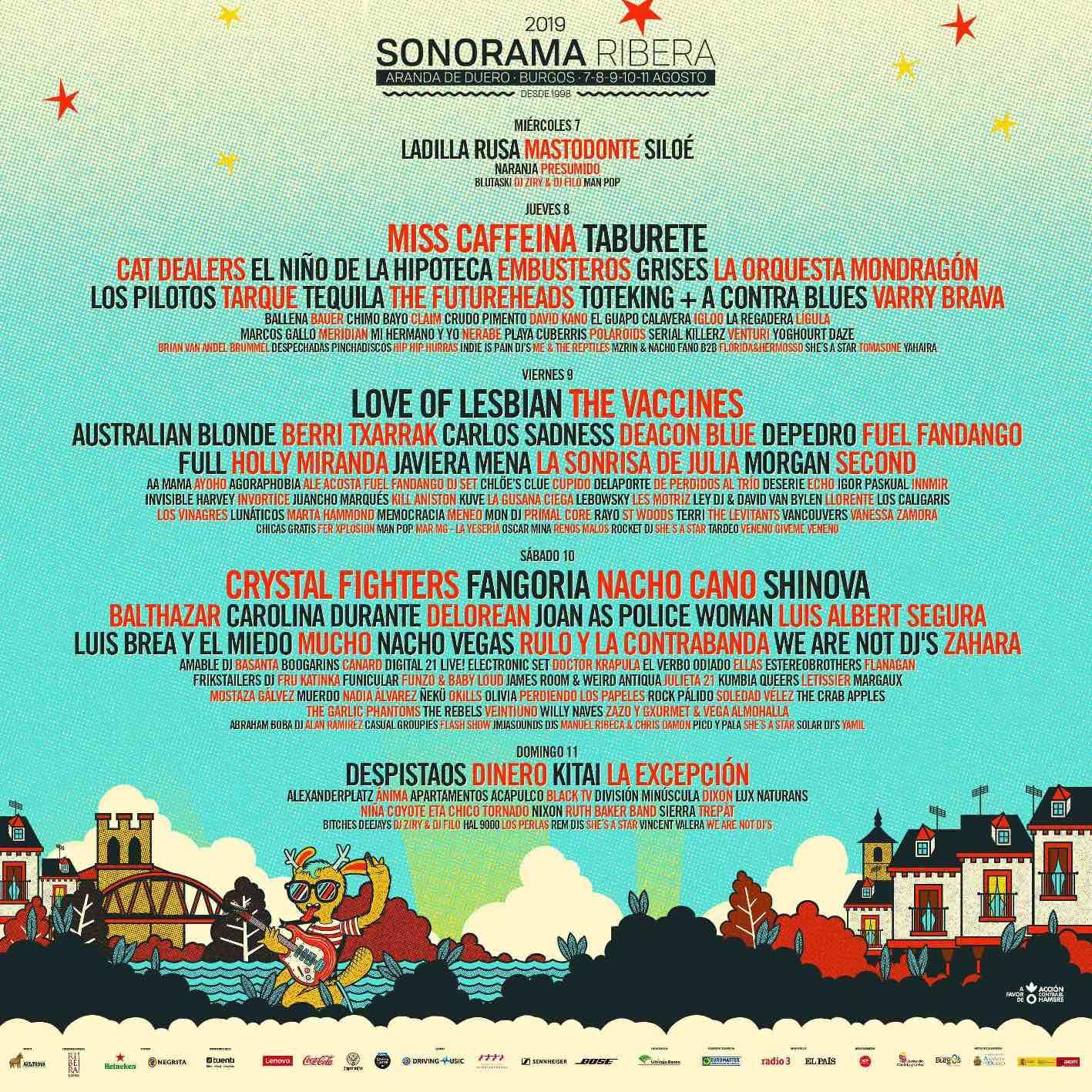 Cartel del Sonorama 2019.