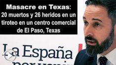 Los 'trolls' Podemos vincula a Vox con la masacre de El Paso (Estados Unidos).