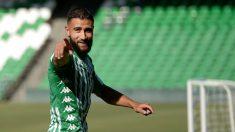 Nabil Fekir en su presentación con el Betis (AFP)