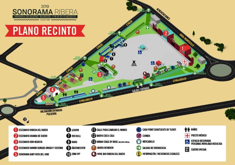 Sonorama 2019: Cartel, horarios y escenarios del festival en Aranda del Duero