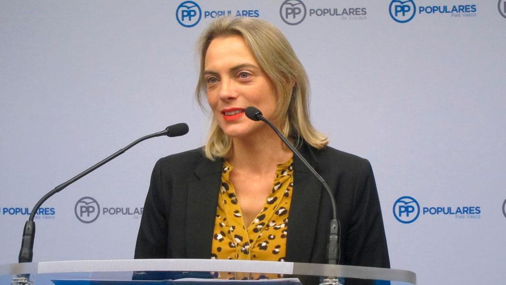 La presidenta del PP de Bizkaia y portavoz popular en el Ayuntamiento de Bilbao, Raquel González. Foto: EP