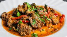 Receta de Lomo de cerdo con salsa picante