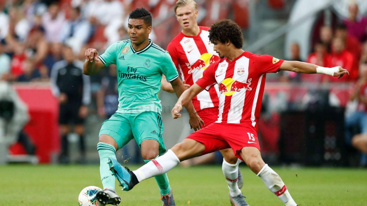 Casemiro, durante el duelo ante el Red Bull Salzburgo (Realmadrid.com)