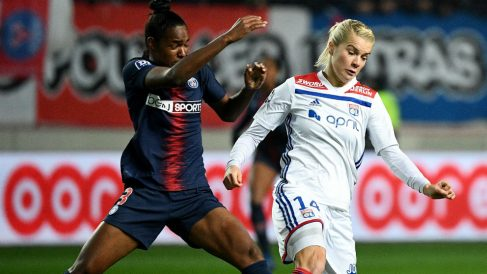 Daiane Limeira, durante un partido ante el Lyon. (AFP)
