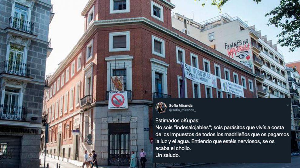 """El Ayuntamiento de Madrid ha fijado el 2 de septiembre como fecha para el desalojo del centro social okupado 'La Ingobernable', en pleno centro de la capital, pero los colectivos sociales encargados de su gestión sacan pecho de su labor y defienden que """"pueden desalojar un edificio pero no las ideas"""". Foto: EFE"""