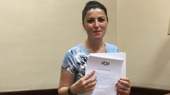 La diputada de Vox Macarena Olona achaca al PNV su cese como abogada del Estado en el País Vasco
