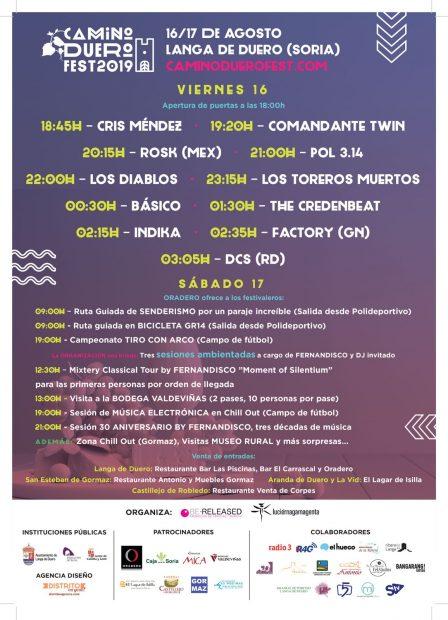 El Camino Duero Fest presenta el novedoso cartel de su primera edición