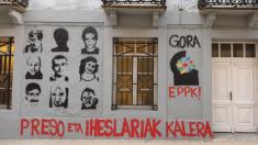 Pintadas que piden la excarcelación de etarras en Rentería @Twitter