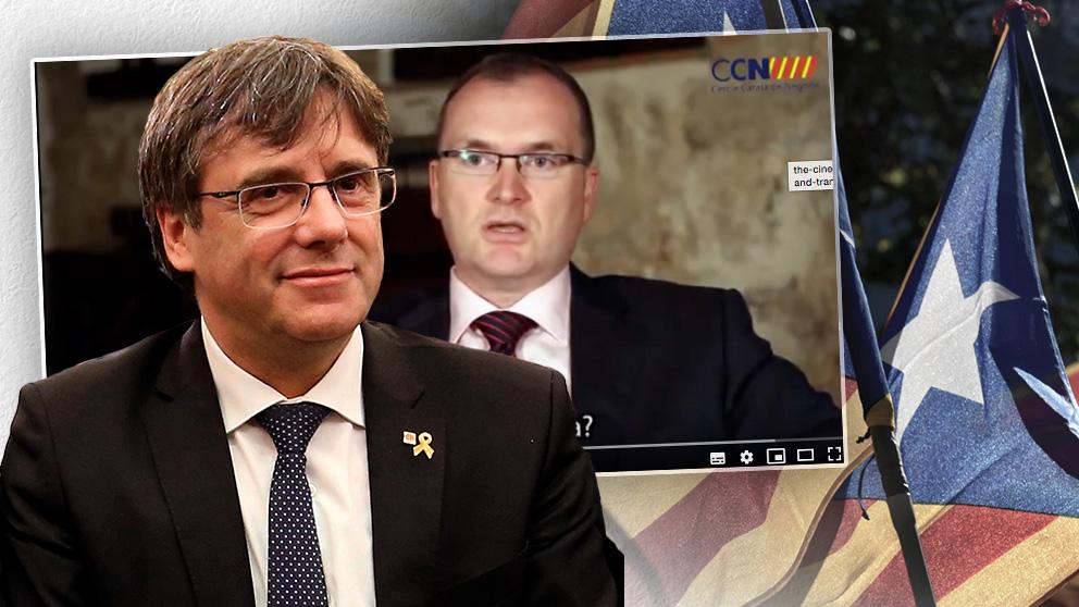 El ex presidente Carles Puigdemont y Albert Pont, presidente del Cercle Català de Negocis (CCN).