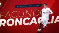 Facundo Roncaglia, nuevo fichaje de Osasuna (Club Atlético Osasuna)