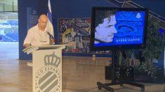 Moisés Hurtado recuerda a Dani Jarque en el RCDE Stadium (@RCDEspanyol)