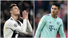 Cristiano y James podrían reencontrarse en la Juventus.