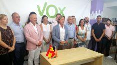 Jorge Campos junto al resto de miembros de la dirección de Actúa Baleares, socio de coalición de Vox (Foto: Vox).