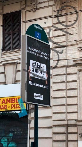 La ANC llena Roma de anuncios de pago contra España: «La autodeterminación no es un delito»