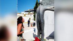 Estatua dedicada a Blas Infante. (Ep)