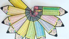 Pasos para hacer un llavero con las tablas de multiplicar