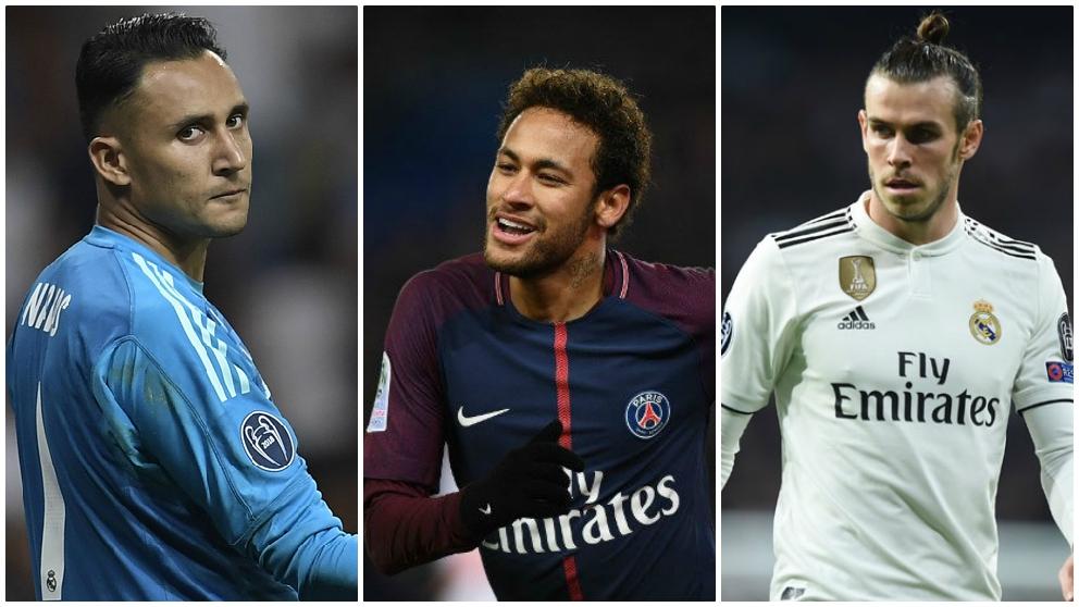 Keylor, Neymar y Bale