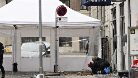 Explosión en una comisaría de Policía de Copenhage. Foto: EFE
