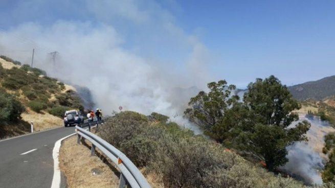 Gran Canaria declara el nivel 1 por el todavía descontrolado incendio de Artenara