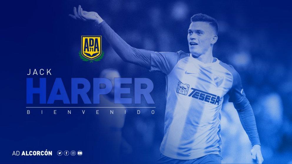 Jack Harper, nuevo jugador del Alcorcón (Agrupación Deportiva Alcorcón)