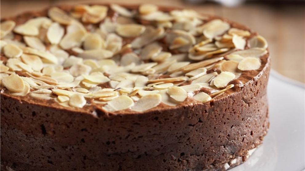 Receta de Tarta de almendra y chocolate