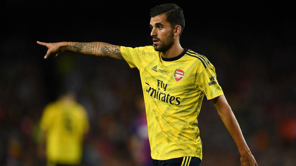 Dani Ceballos, en un partido con el Arsenal. (Getty)