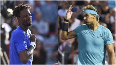 Gael Monfils y Rafael Nadal. (Getty)