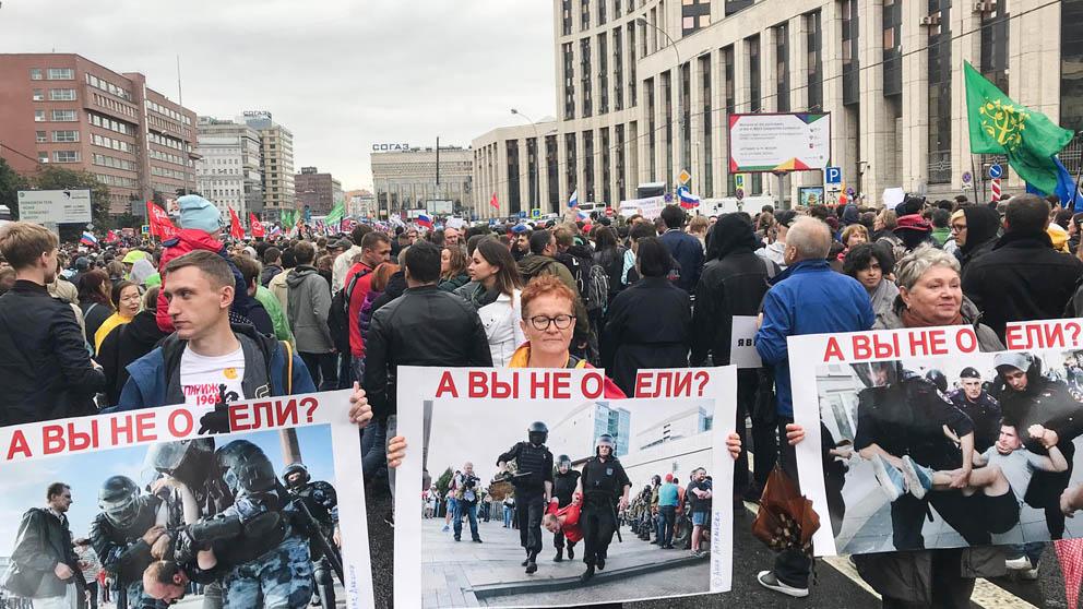 Manifestaciones en Moscú contra Putin (Foto: EP)
