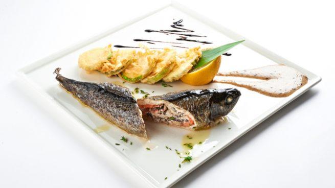 Receta de salmonetes rellenos de marisco