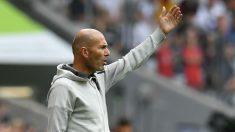 Zidane, durante un partido de pretemporada del Real Madrid (AFP).