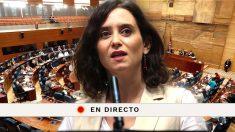 La investidura de Isabel Díaz Ayuso, en directo.