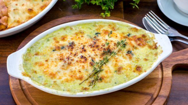 Receta de espinacas con marisco y huevos al microondas