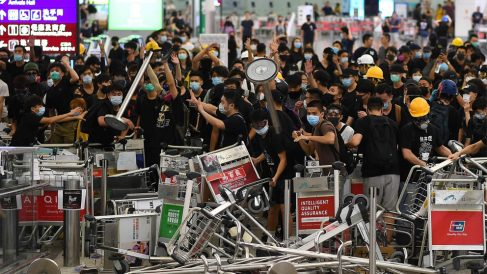 Protestas en Hong Kong (Foto: AFP)