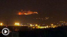 Incendio forestal en la zona de Cazadores (Gran Canaria). Foto: EFE