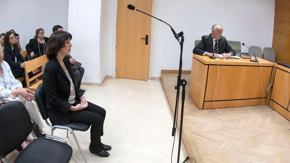 Juana Rivas declara en la Audiencia Provincial de Granada. Foto: EP