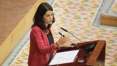 Isabel Serra durante el turno de réplica de los grupos parlamentarios. FOTO: Francisco Toledo