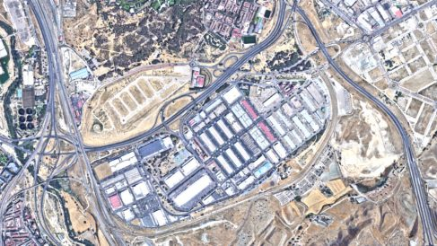 Instalaciones de Mercamadrid situadas en el distrito de Vallecas.
